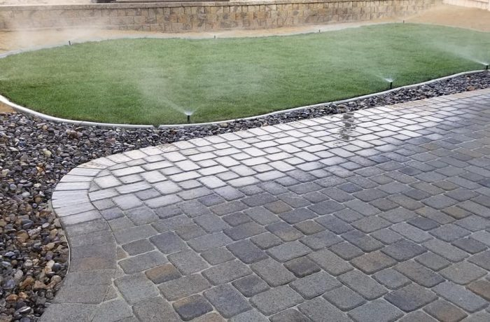 Pavers and Grass